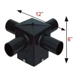 MaxLite - MaxLite S4HT490BZ Mounting Bracket for Flood and Area Lights - This 4 Inch Square Quad 90� Horizontal Tenon Mounting Bracket is for MaxLite Flood and Area Lights.