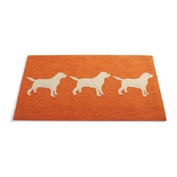 "Grandin Road - Dog Mat - Made to the same quality standards as the rest of our mats, but designed expressly to add a welcome touch of comfort and beauty to your pet's favorite places. Durable hook and loop construction of high-performance poly-acrylic fibers. Resists moisture, stains, and high traffic. Even rugged enough to take outdoors. 3/8"" pile. Our fetching Dog Mat makes a faithful addition to virtually anywhere Rover likes to roam. Great for under your pet's food dishes. Made to the same quality standards as the rest of our mats, but designed expressly to add a welcome touch of comfort and beauty to your pet's favorite places .  .  .  .  . Simply hose clean . Imported."