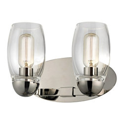 Hudson Valley Lighting - Hudson Valley Lighting Pamelia Transitional Wall Sconce - Thick handcrafted glass hurricanes give Pamelia its distinctive appeal. Mouth-blown and flame-polished, the heavy glassware showcases the lively glow of our vintage tube bulbs. The bulbs' tungsten filaments spread unsurpassed warmth across your space, while highlighting the collection's crystal and cast metal accents.