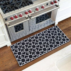 Ballard Designs - Suzanne Kasler Quatrefoil Comfort Mat - Available in two colors. Made in the USA. Suzanne Kasler's signature quatrefoil adds just enough pattern to liven up any kitchen space. Spongy rubber back is extra thick, so you can stand, prep and cook in comfort for longer periods. Best of all, it's machine washable and air dries for easy maintenance.SK Quatrefoil Comfort Mat features: . .