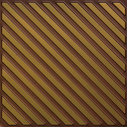"Decorative Ceiling Tiles - Perfect Pitch - Faux Tin Ceiling Tile - Glue up - 24""x24"" - #241 - Find copper, tin, aluminum and more styles of real metal ceiling tiles at affordable prices . We carry a huge selection and are always adding new style to our inventory."