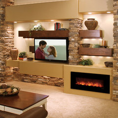 modern fireplaces by NYC Fireplaces and Outdoor Kitchens