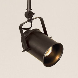 Photographer's Spotlight Head - Something about this mounted beauty makes me want to get on a stage and do a dance, Glee style. I love the finish and the throwback to industrial and functional style.