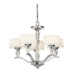 Kichler - Kichler Crystal Persuasion Mini Chandelier in Chrome - Shown in picture: Kichler Chandellete 5Lt in Chrome