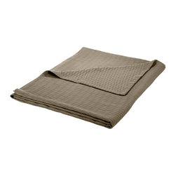 Cotton Blanket (Diamond) Twin/Twin XL 68 x 90 - Grey - Wrap yourself in pure comfort with this all season 100% cotton blanket. This blanket is ideal for year-round use and comes in a variety of colors. The blanket features a marvelous diamond pattern and has a self-binding hem for increased durability. Dimensions: Blanket 68x90.