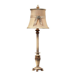 Dimond Lighting - Dimond Lighting Syracuse Buffet Lamp in Sussex Stone w/ Gold - Buffet Lamp in Sussex Stone w/ Gold belongs to Syracuse Collection by Dimond Lighting Lamp (1)