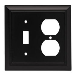 Liberty Hardware - Liberty Hardware 64213 Architectural WP Collection 4.96 Inch Switch Plate - Flat - A simple change can make a huge impact on the look and feel of any room. Change out your old wall plates and give any room a brand new feel. Experience the look of a quality Liberty Hardware wall plate.. Width - 4.96 Inch,Height - 4.9 Inch,Projection - 0.2 Inch,Finish - Flat Black,Weight - 0.37 Lbs