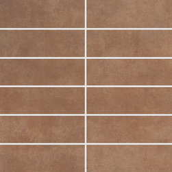 Parkland Collection Sequoia Design 3 Mosaic - StonePeak Ceramics' Parkland series combines a modern, refined texture with a natural appeal, making this line perfect for any style and taste. Parkland is a thru-color porcelain line delivered in a wide choice of sizes. A full trim package complements this series.