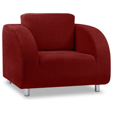 contemporary armchairs Houdini Red Chair