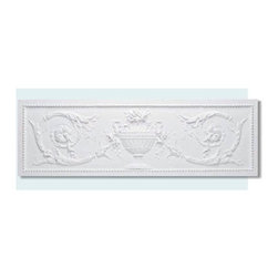 "Inviting Home - Victorian Pediment - decorative pediment length - 38-15/16"" height - 12-5/8"" depth - 3/4"" Door pediment produced in high density polyurethane. This material is extremely durable and easy to work with. It is tough dimensionally stable light weight and easy to install using common woodworking tools and adhesive. Adding door pediments will enhance any new constriction renovation or decoration project making a distinctive impression. Each door pediment is reproduced from classic historical designs. Door pediment comes primed white ready for finish."