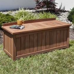 4 ft Teak Backless Storage Bench - Enjoy the view of your backyard or garden while sitting on the Teak Backless Storage Bench. Store gardening tools, pool supplies and more inside this 4 foot multipurpose teak bench.