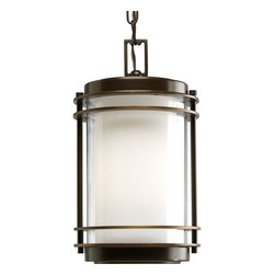 Progress Lighting - Progress Lighting P5503-108 Penfield One-Light Hanging Lantern Oil Rubbed Bronze - One-light hanging lantern with clear and opal glass.