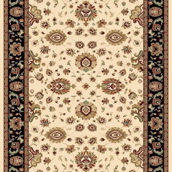 "Concord Global - Concord Global Williamsburg Sultan Ivory Oriental 7'10"" x 10'10"" Rug (7592) - Williamsburg Collection is a 1.5 million point quality. This assortment consists of gorgeous oriental replicas with intricate motifs and designs dating back to 18th century. Many of you asked for higher quality traditional look in a navy color, we added navy along with black. They look just like high end hand made rugs with exceptional details. 100% olefin, machine made in Turkey."