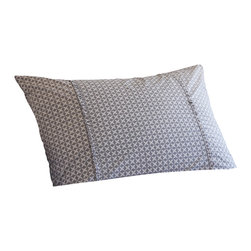 Taylor Linens - Charleston Grey Standard Sham - Sweet dreams are made of this. Inspired by vintage cross-stitch, the geometric pattern of this sham looks thoroughly modern in versatile gray and white, making it an easy fit for any bedroom. Hold your head up — in style.
