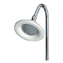 Renovators Supply - Shower Heads Sunflower Shower Head Chrome 6 1/2'' Dia | 98820 - Sunflower shower head. This oversized sunflower shower head gives your bathroom a turn-of-the-century flair. Measures 6 1/2 inch in diameter. Fits all standard 1/2 inch IPS. Riser not included. Ceramic with chrome.