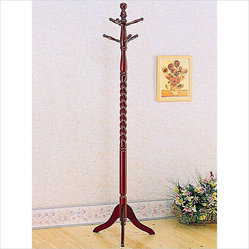 Coaster Coaster Coat Rack With Twisted Post In Cherry