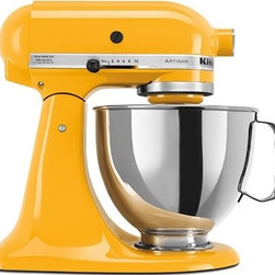 KitchenAid Artisan Stand Mixer in Yellow Pepper - This makes me want to mix up a batch of wicked lemon bars. A sunny addition to any little kitchen!