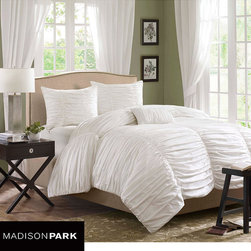 Madison Park Catalina 4-piece Comforter Set - Check out that texture! I actually just ordered this one for myself. For a great price it comes with shams and a decorative pillow.