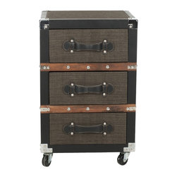 Lewis 3-Drawer Rolling Chest - I could see this working in an office or even as a nightstand. Plus, the mobility and design are a nice nod to British Campaign furniture, while also looking sleek in mostly black.