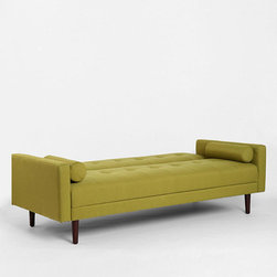 Night and Day Convertible Sofa, Green - This amazingly fun piece is part daybed and part sofa — the back comes up if you need more support. I am in love with the color, the tufting and, of course, the flexibility of this piece. It also has a great price tag.