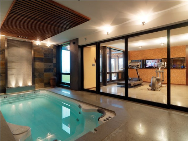 Rustic Pool by Birdseye Design
