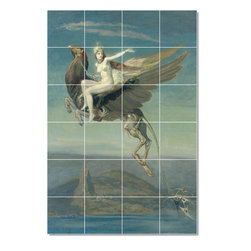 Picture-Tiles, LLC - Fantasy1 Tile Mural By John Duncan - * MURAL SIZE: 72x48 inch tile mural using (24) 12x12 ceramic tiles-satin finish.