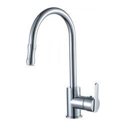 YOSEMITE HOME DECOR - Single Handle Kitchen Faucet with Pull-out Sprayer and Base Plate - Washerless Cartridge  Single Handle Kitchen Faucet with Pull out Sprayer and Base Plate No pop up drain included Polished Chrome