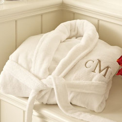 PB Classic Terry Robe - These monogrammed, plush robes are a great splurge that the newlyweds will appreciate on leisurely mornings after the big day has come and gone.