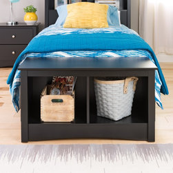 None - Broadway Black Twin Cubbie Bench - The Twin Cubbie Bench is a versatile storage solution for your small spaces. With two spacious compartments underneath the bench,this piece will keep blankets,pillows,baskets and more neatly stowed away.