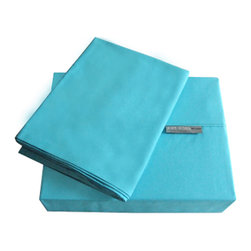 """Jenny George Designs - Jenny George Bedroom 200 Thread Count Solid Color Bright Sheet Set Teal Twin - Brights Sheet Set Color Teal Twin Size 200 Thread Count. Set Includes 1 Flat Sheet, 1 Fitted Sheet, 1 Pillow Case. Flat Sheet Dimensions: 66"""" x 96"""". Fitted Sheet Dimensions:39"""" x 76"""" x 12"""". Pillowcase Dimensions: 20"""" x 30"""". 60% Cotton/40% Polyester. Machine Wash."""