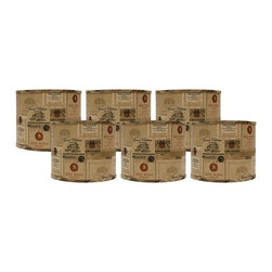 """Lamps Plus - Themed Set of 6 Wine Labels Drum Lamp Shade 5x5x4.5 (Clip-On) - These itty-bitty drum lamp shades come in a set of six and are perfect for the wine enthusiast in your life. The clip-on fitter allows you to effortlessly incorporate these shades into your home and the chrome hardware provides just a hint of shine. A perfect accent to uplift a set of small table lamps. Set of 6. Drum lamp shade. Cotton exterior. Wine label design. Clip-on fitter. Recommended for use with 25 watt candelabra bulbs. Unlined. 5"""" across the top. 5"""" across the bottom. 4.5"""" high.  Set of 6.  Drum lamp shade.  Cotton exterior.  Wine label design.  Clip-on fitter.  Recommended for use with 25 watt candelabra bulbs.  Unlined.  5"""" across the top.  5"""" across the bottom.  4 1/2"""" high."""