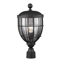 Murray Feiss - Murray Feiss OL9808TXB River North 1 Bulb Textured Black Outdoor Lantern Post Mo - Murray Feiss OL9808TXB River North 1 Bulb Textured Black Outdoor Lantern Post Mount