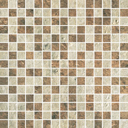 Cesare Magnus Collection Golden+Bronze Micro Mix Mosaic - The elegance and grandeur of the natural stones found in the imperial palaces of ancient Rome are now available again to enrich today's projects thanks to StonePeak's innovative technology.