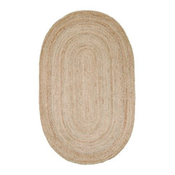 nuLOOM - Casuals Natural Fibers 4' Round Natural Braided Area Rug Jute Braided - Made from the finest materials in the world and with the uttermost care, our rugs are a great addition to your home.