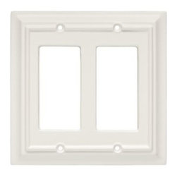 Liberty Hardware - Liberty Hardware 126336 Wood Architectural WP Collect 5.51 Inch Switch Plate - W - A simple change can make a huge impact on the look and feel of any room. Change out your old wall plates and give any room a brand new feel. Experience the look of a quality Liberty Hardware wall plate.. Width - 5.51 Inch,Height - 5.2 Inch,Projection - 0.4 Inch,Finish - White,Weight - 0.22 Lbs