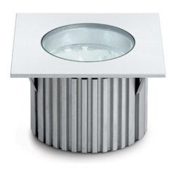 """Fabbian - Fabbian Cricket Square Recessed Lamp D60 F20A - The square Cricket recessed lamp from Fabbian was designed by Stylusdesign - Design Bridge & Consulting LTD and made in Italy The square Cricket recessed lamp is made for indoor or outdoor use. Available in various heights, shapes and dimensions    it is a practical solution even for spaces where light is needed far from the light source and it is made from anodized or polished aluminium and polished chromium- plated metal structures.   Products description:  The square Cricket recessed lamp from Fabbian was designed by Stylusdesign - Design Bridge & Consulting LTD and made in Italy The square Cricket recessed lamp is made for indoor or outdoor use. Available in various heights, shapes and dimensions    it is a practical solution even for spaces where light is needed far from the light source and it is made from anodized or polished aluminium and polished chromium- plated metal structures.   Details:     Manufacturer:   Fabbian     Designer:   Stylusdesign - Design Bridge & Consulting LTD     Made in: Italy   Dimensions:   Height: 3.2"""" (8.2cm) X Width: 3.1"""" (7.9cm)      Light bulb:     1 X 20W 12Volt GU4 or 3 X 3W LED     Material   Metal, glass"""