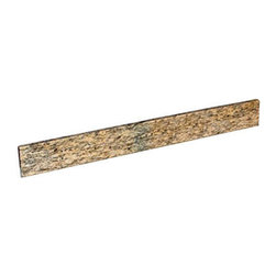 """37"""" Granite Vanity Backsplash - This Granite Vanity Backsplash was designed to accompany our 37"""" stone vanity tops. Add it to your bathroom vanity to protect walls from water splashes or to put the finishing touch on a project."""