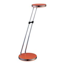 Lite Source - Led Desk Lamp, Orange, Type Led Bulb 0.1Wx18Pcs - Led Desk Lamp, Orange, Type Led Bulb 0.1Wx18Pcs
