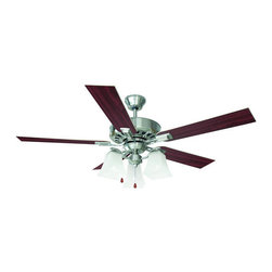 "Design House - Design House 154138 Transitional 52"" Ceiling Fan from the Torino Collection - Design House 154138 Transitional 52"" Ceiling Fan from the Torino CollectionThe sleek, angled lines of the glass shapes give the Torino ceiling fan an elegant, modern appearance.Features:"