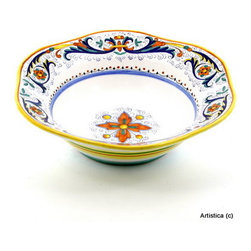 Artistica - Hand Made in Italy - Ricco Deruta: Hexagonal Lg. Salad/Pasta Bowl - Ricco Deruta: This product is part of the renown Ricco Deruta Collection.