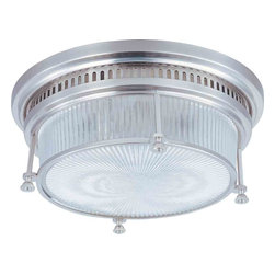 Maxim Lighting - Maxim Lighting 25000CLSN Hi-Bay Satin Nickel Flush Mount - 2 Bulbs, Bulb Type: 60 Watt Incandescent