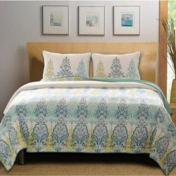 Greenland Home Fashions - Greenland Home Fashions Bombay Quilt Set - GL-1312AMST - Shop for Bedding Sets from Hayneedle.com! The Greenland Home Fashions Bombay Quilt Set features an elegant print in fresh colors inspired by the beauty of the Indian subcontinent. Made from prewashed and preshrunk cotton this machine washable set comes in your choice of size and includes a quilt and two pillow shams (one sham only with the twin set).About Greenland Home FashionsFor the past 16 years Greenland Home Fashions has been perfecting its own approach to textile fashions. Through constant developments and updates - in traditional country and more modern styles n the company has become a leading supplier and designer of decorative bedding to retailers nationwide. If you're looking for high-quality bedding that not only looks great but is crafted to last consider Greenland.