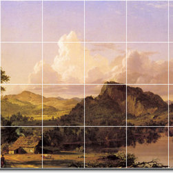 Picture-Tiles, LLC - Home By The Lake Tile Mural By Frederic Church - * MURAL SIZE: 24x36 inch tile mural using (24) 6x6 ceramic tiles-satin finish.