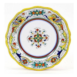 Artistica - Hand Made in Italy - RAFFAELLESCO: Dinner plate - RAFFAELLESCO Collection: Among the most popular and enduring Italian majolica patterns, the classic Raffaellesco traces its origin to 16th century, and the graceful arabesques of Raphael's famous frescoes.