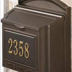 Home Decorators Collection - Wall Mount Personalized Mailbox - This attractive mailbox will add to the curb appeal of your home.