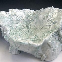 Hand Chiseled Porcelain ware - Porcelain tree fruit bowl