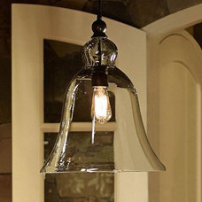 Rustic Glass Pendant - Large | Pottery Barn