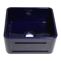 "Whitehaus Collection - Sapphire Blue Whitehaus WHFLRPL2018 20"" Raised Panel or Fluted Fireclay Farmhous - The Benefits of an Authentic farmhouse sink."