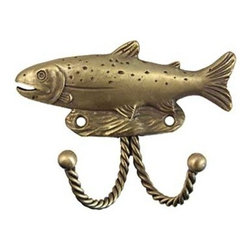 Sierra Lifestyles Decorative Hook - Trout - Antique Brass - Get Idea About Sierra Lifestyles Decorative Hook - Trout - Black. Sierra Lifestyles  Cabinet Hardware, Cabinet  Knobs, Cabinet Pulls , Switch plates, Rustic cabinet hardware, Double Hook, Hook, Decorative Hook, Knobs, Pulls and Decorative Hardware Accessories
