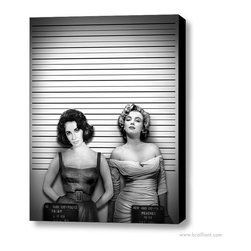 "Marilyn Monroe & Liz Taylor 'Daisy Peaches' 2011 Poster Print - We wonder sometimes as we seek to understand the private lives, and thoughts of those that we feel we know so well, if it all isn't really so terribly simple. Vamps and vixens, dames, broads, waifs, and princesses: actresses like Marilyn Monroe and Elizabeth Taylor lit up the silver screen with a heady blend of elegance, sophistication, sex appeal, mystery, and high end glamour. Showcasing a contemporary juxtaposition with 112 digitally rendered image layers, this digital imagery of Liz Taylor and Marilyn Monroe within the world of ""what if"" is reimagined for another time and place. On February 4, 2011 Marilyn and Liz in 'Daisy and Peaches', appeared for the first time on DeviantART. The A-listers of Hollywood's Golden Age have become enduring icons of beauty and style, and their era still inspires trends in fashion and décor. Does retro-Hollywood fabulous inspire you?"